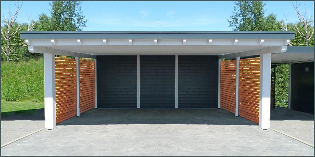 Garage modern holz  Carports 'Modern' - Mein Carport